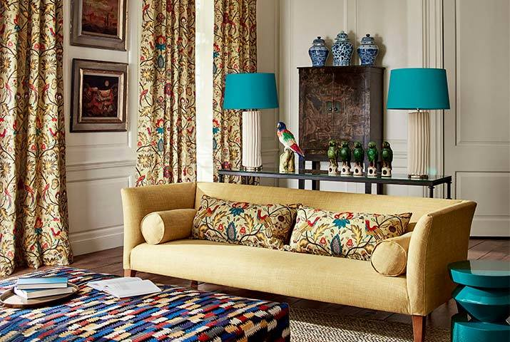 zoffany-antiquary-fabric-on-curtains-and-cushions